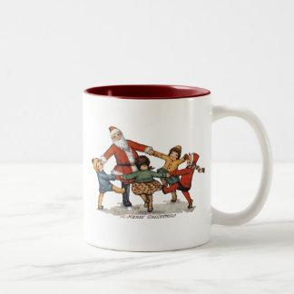 Santa and Children Mug