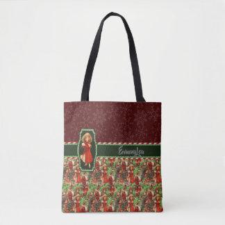 Santa and Children Season's Greetings Tote Bag