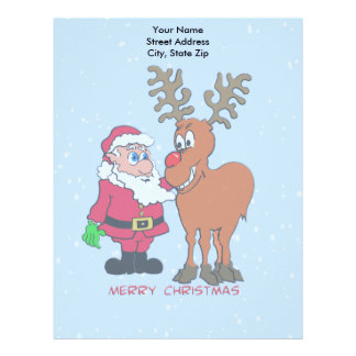Santa and Christmas Letterhead