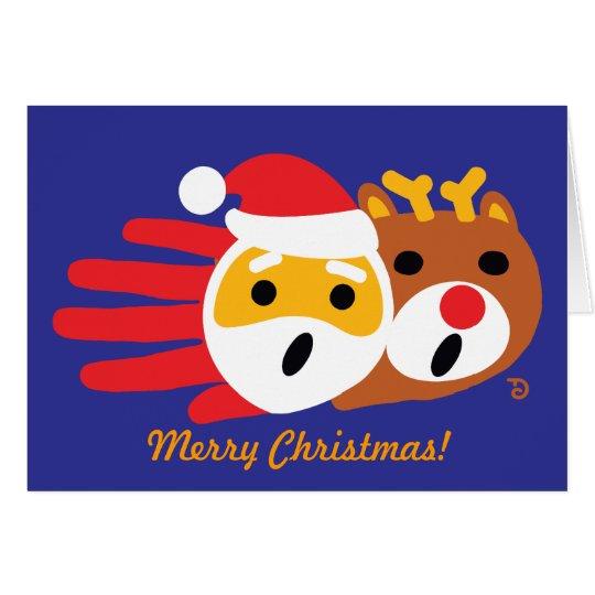 Santa and Christmas Reindeer card