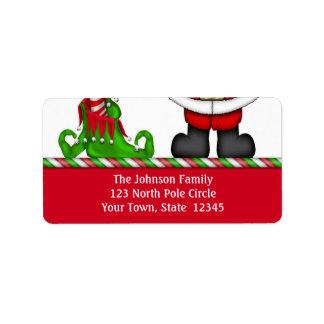 Santa and Elf Address Label