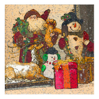 SANTA AND FRIENDS ACRYLIC WALL ART