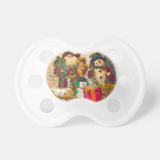 SANTA AND FRIENDS BABY PACIFIERS