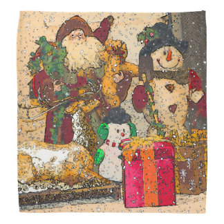 SANTA AND FRIENDS BANDANA