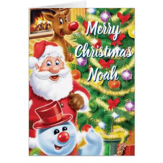 Santa and friends christmas card