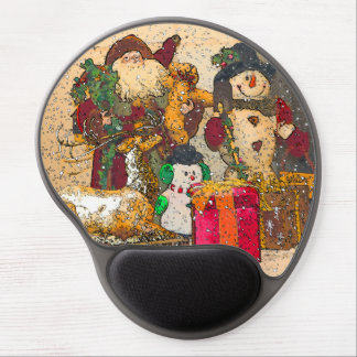 SANTA AND FRIENDS GEL MOUSE PAD