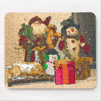SANTA AND FRIENDS MOUSE PAD