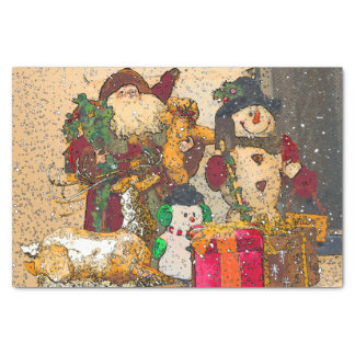 SANTA AND FRIENDS TISSUE PAPER