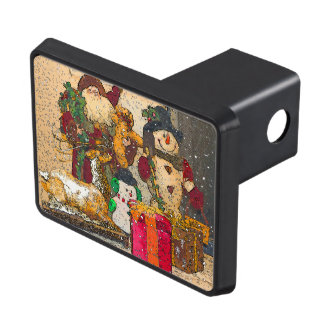 SANTA AND FRIENDS TRAILER HITCH COVER