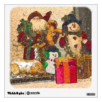 SANTA AND FRIENDS WALL STICKER