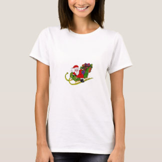 Santa and his Booties on Womens T-Shirt