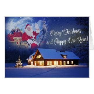 Santa and His Ferrets Merry Christmas Card