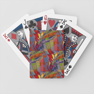 Santa and His Flying Butterflies Bicycle Playing Cards