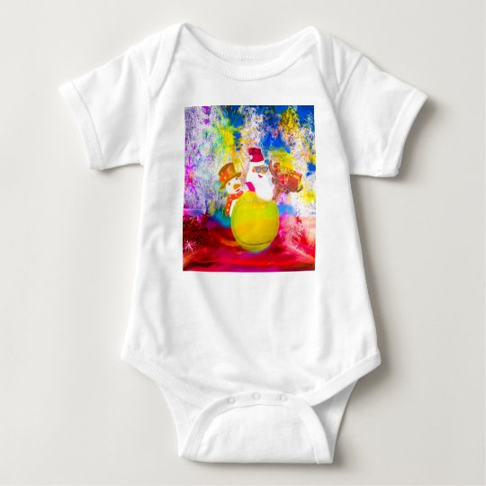Santa and his friends enjoy the season baby bodysuit