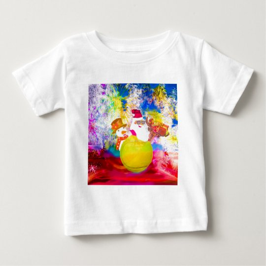 Santa and his friends enjoy the season baby T-Shirt