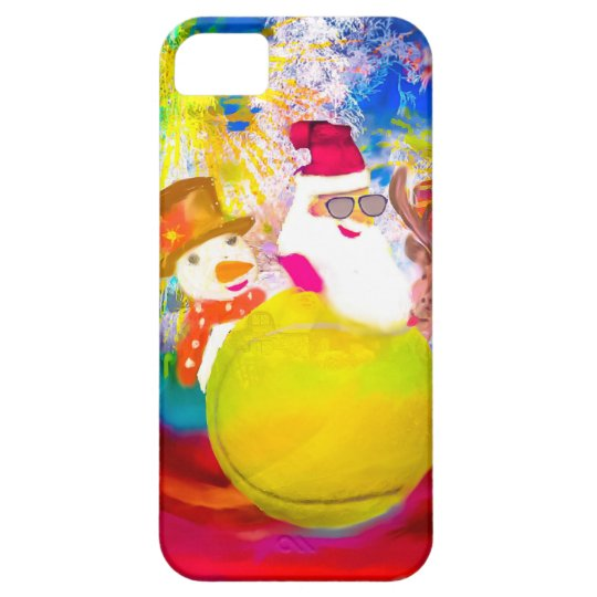 Santa and his friends enjoy the season iPhone 5 case