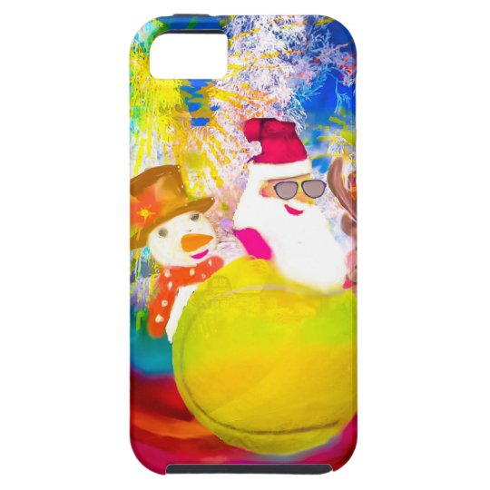 Santa and his friends enjoy the season iPhone 5 covers