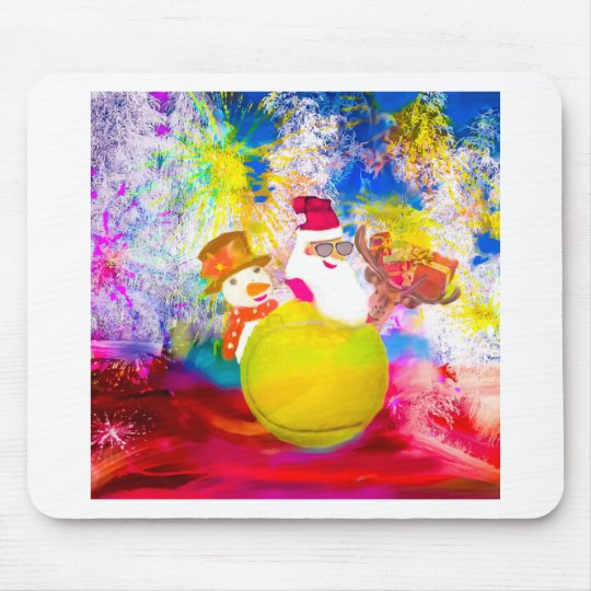 Santa and his friends enjoy the season mouse pad