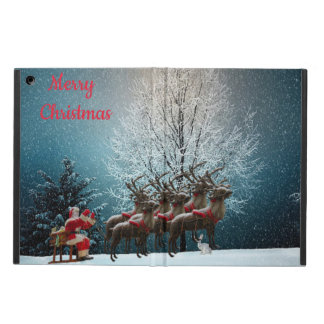 Santa and his reindeers Ipad case