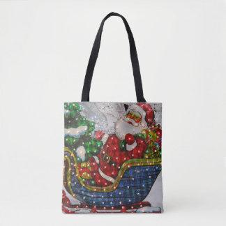 Santa And His Sleigh Tote Bag