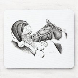Santa-and-Horse- Mouse Pad