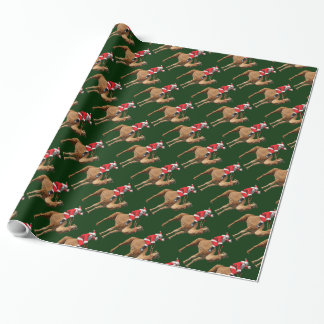 Santa And Hump Day Camel Christmas Wrapping Paper