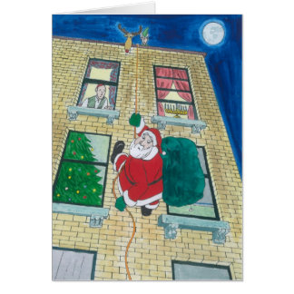 Santa and menorah card