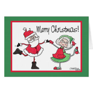 Santa and Mrs. Claus Dance Card