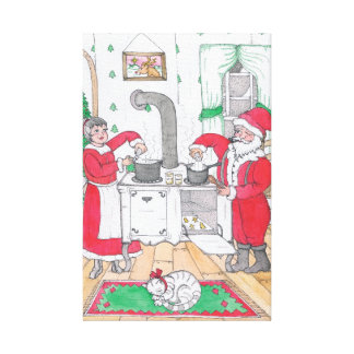 Santa and Mrs. Claus Large Canvas