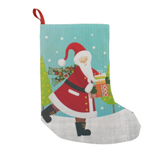 Santa and Presents Small Christmas Stocking