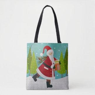Santa and Presents Tote Bag