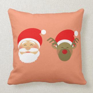 Santa and Raindeer Cotton Pillow