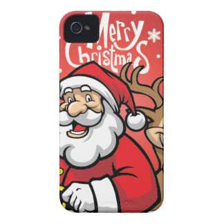 Santa and Reindeer Case-Mate iPhone 4 Cases