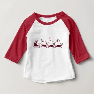 Santa and Reindeer Christmas Baby T-Shirt