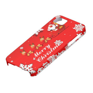 Santa and Reindeer Christmas iPhone 5 Covers