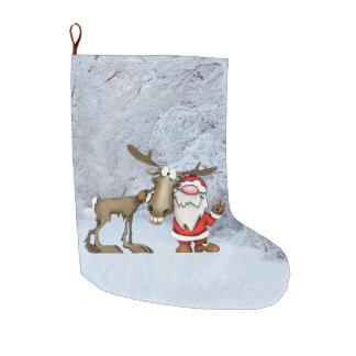Santa and Reindeer Christmas Stocking