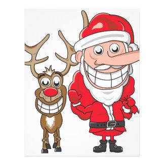 Santa and Reindeer Custom Letterhead