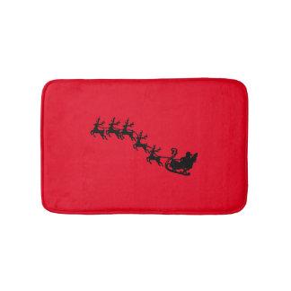 Santa and Reindeer Customizable Bath Mat