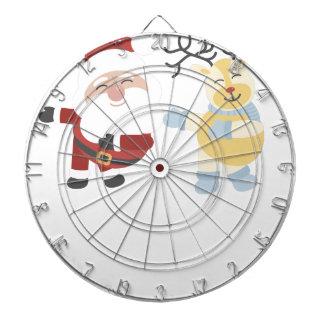 santa and reindeer dartboard
