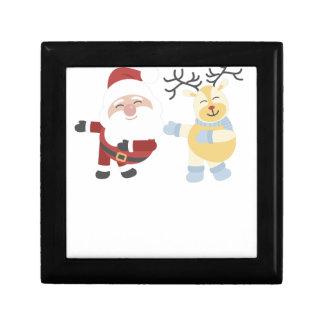 santa and reindeer gift box