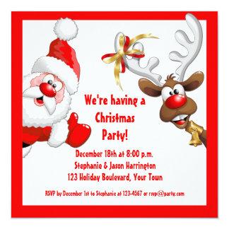 Santa and Reindeer Invitation