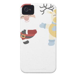 santa and reindeer iPhone 4 covers