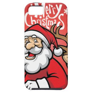Santa and Reindeer iPhone 5 Case
