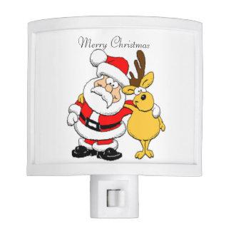 Santa and Reindeer Nite Lite