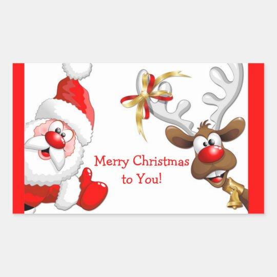 Santa and Reindeer Sticker