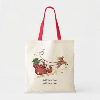Santa and Reindeer Tote - SRF