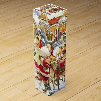 Santa and Reindeer Wine Gift Box