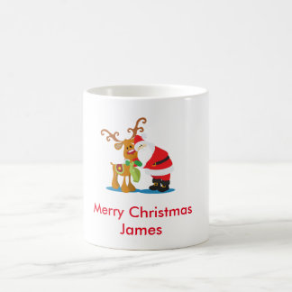 Santa and Rudolph Coffee Mug