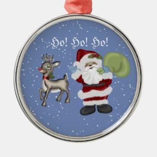 Santa and Rudolph Ornament