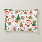 Santa and Rudolph pattern Accent Pillow